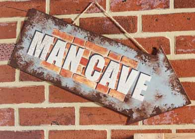Handmade Man Cave Sign
