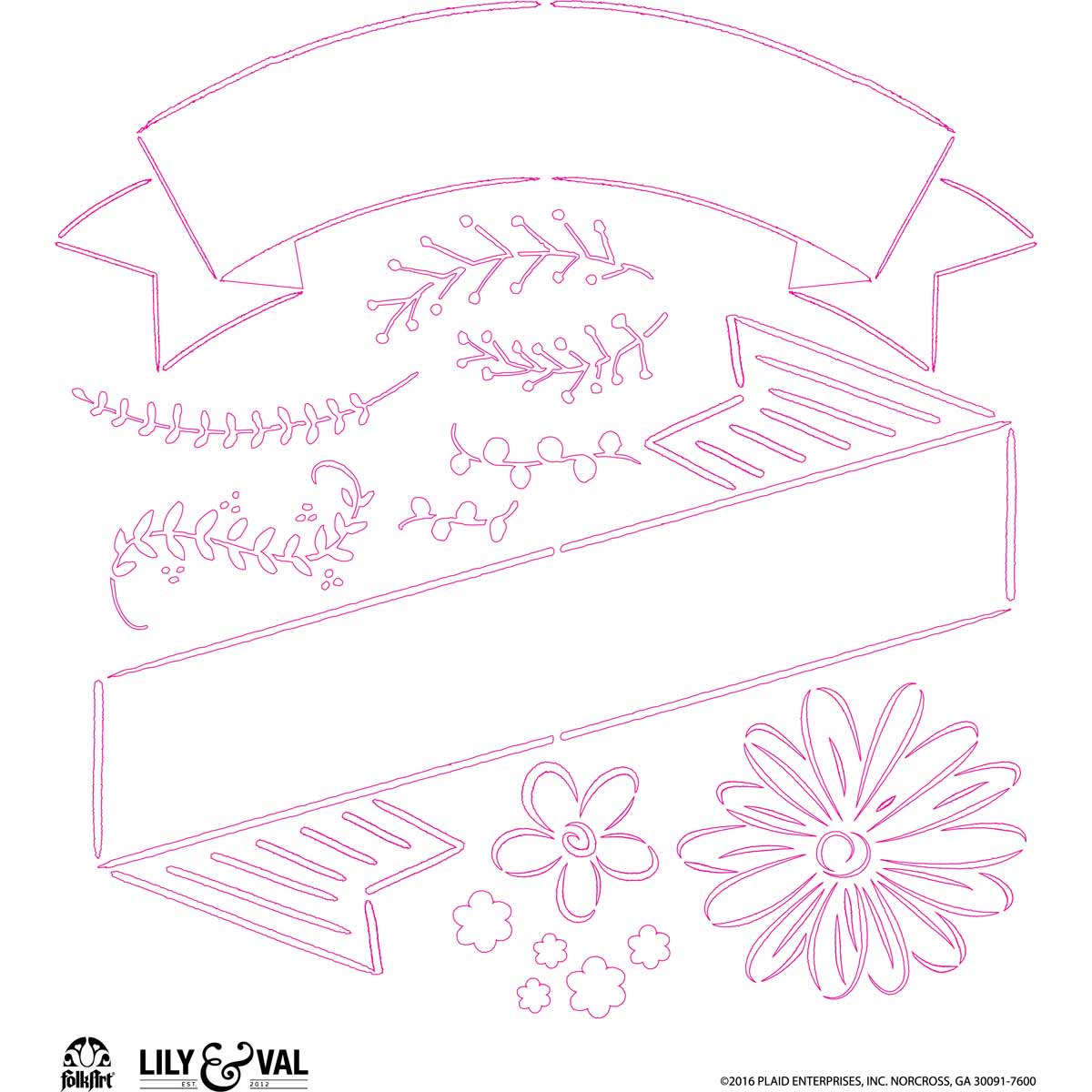 FolkArt ® Lily & Val™ Stencils - Variety Packs - Mixed Fonts - 13238