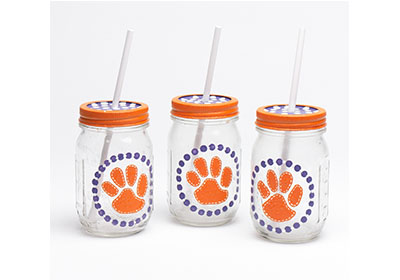 Football Mason Jars with FolkArt Multi-Surface