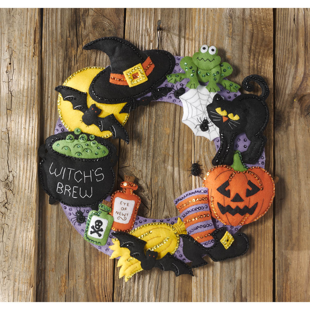 Bucilla ® Seasonal - Felt - Home Decor - Witch's Brew Wreath
