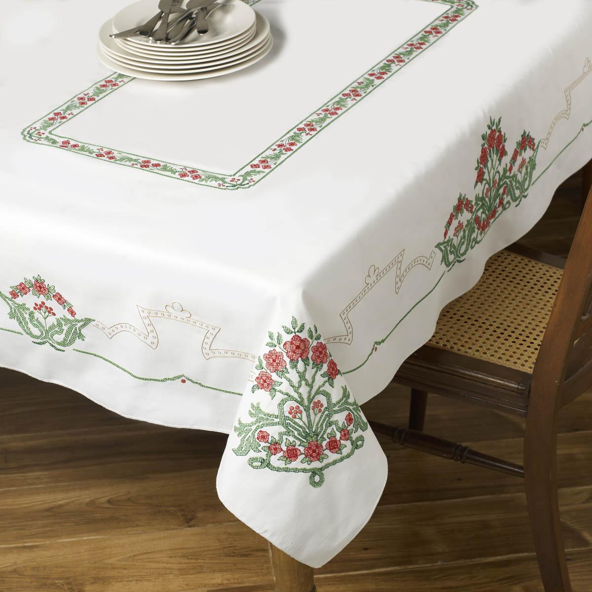 Bucilla ® Seasonal - Stamped Cross Stitch - Smithsonian ® - Table Ensembles - Victorian Frieze - Tab