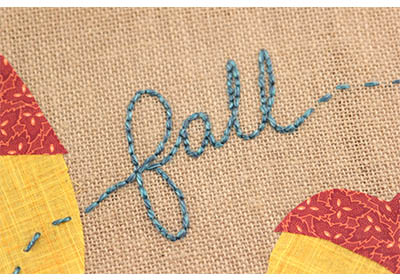 Mod Podge Acorn Fall Burlap Art