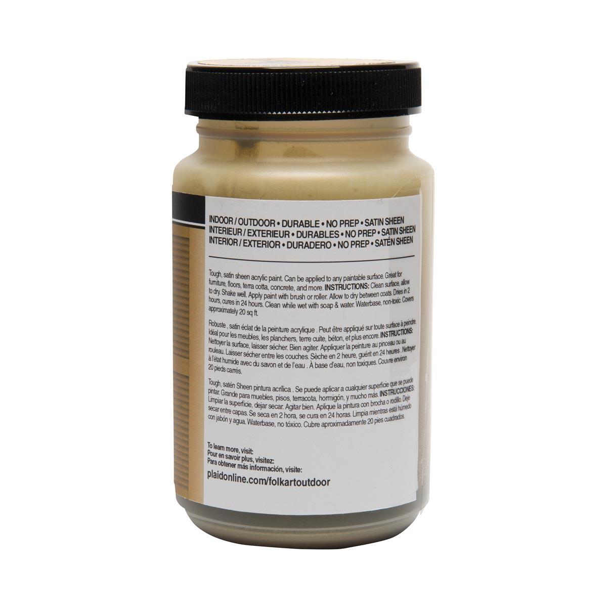 FolkArt ® Outdoor™ Acrylic Colors - Gold, 8 oz.