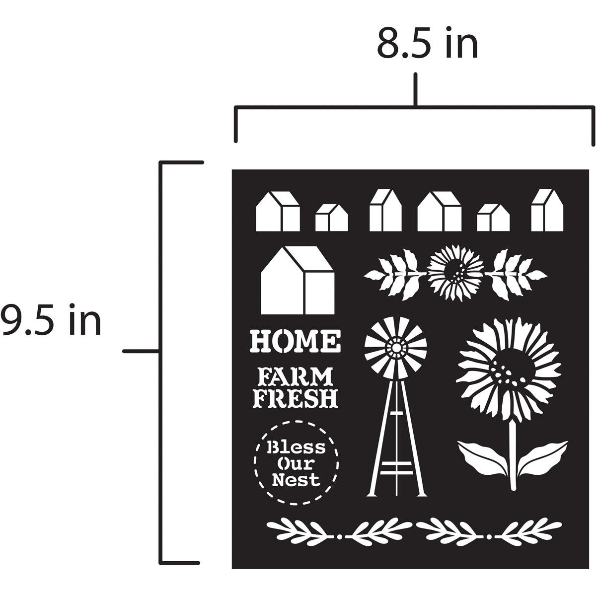 FolkArt ® Laser Cut Adhesive Stencils - Farmhouse Market - 39243
