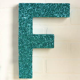 Glittered Paper Mache Letters