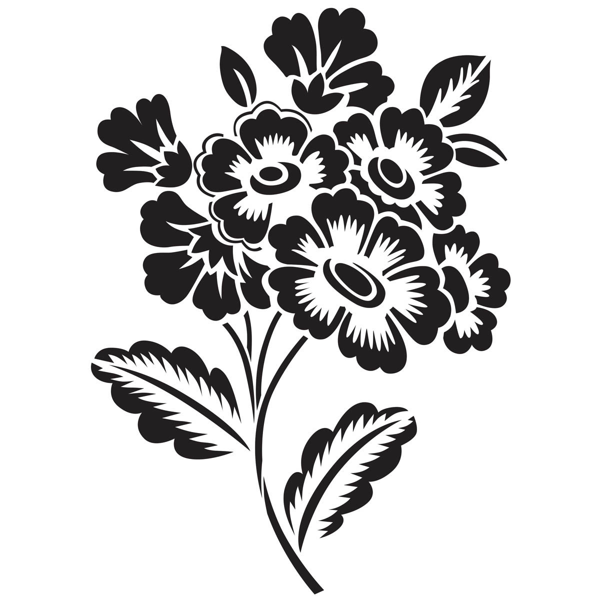 Waverly ® Inspirations Laser Stencils - Accent - Floral Sprig, 6