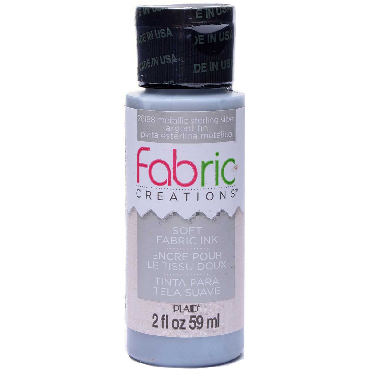 Fabric Creations™ Soft Fabric Inks - Metallic Silver, 2 oz.