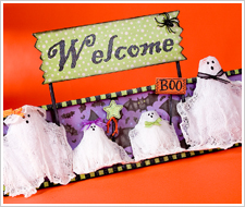 Ghost Family Welcome Plaque