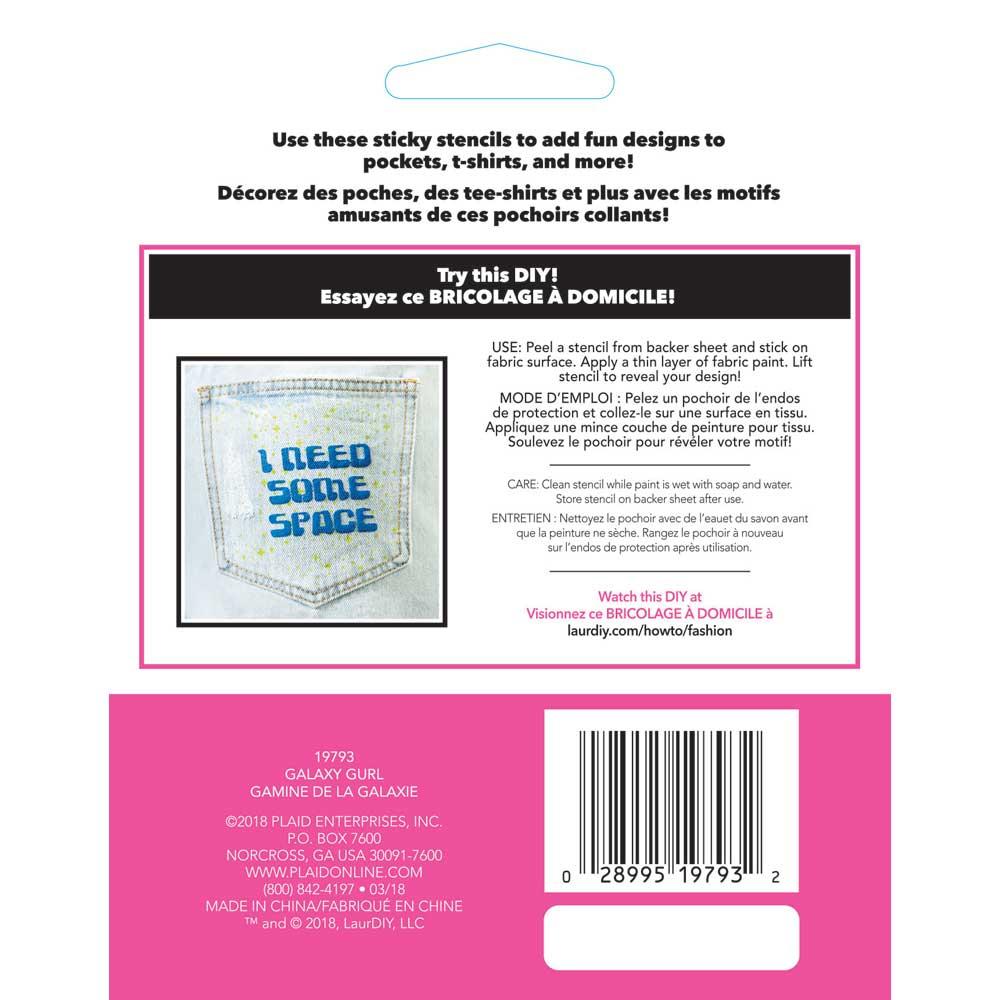 LaurDIY ® Peel & Stick Stencils - Small - Galaxy Gurl