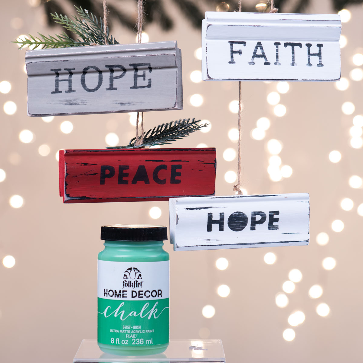 Christmas Sign Ornaments