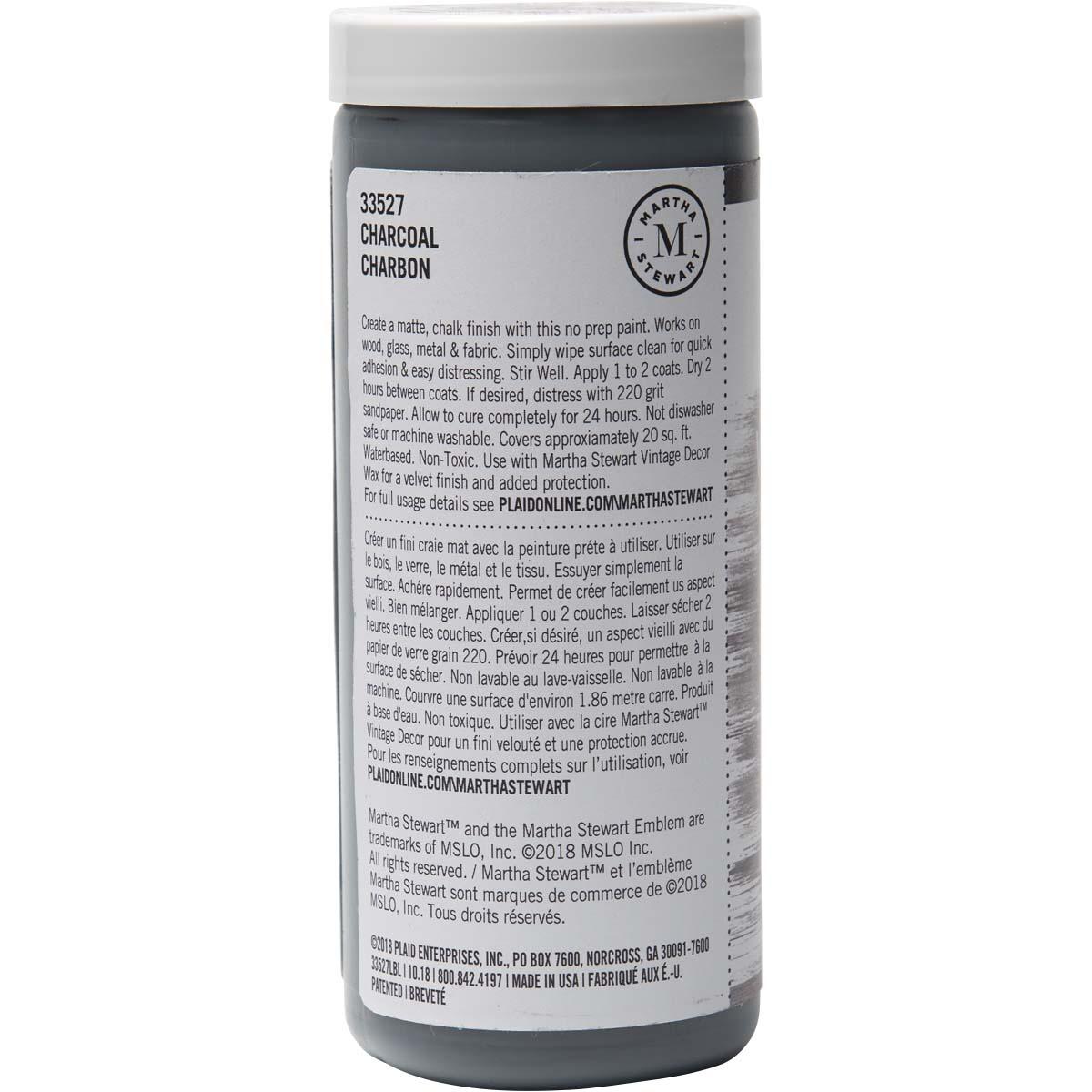 Martha Stewart ® Vintage Decor Matte Chalk Acrylic Paint - Charcoal, 8 oz. - 33527