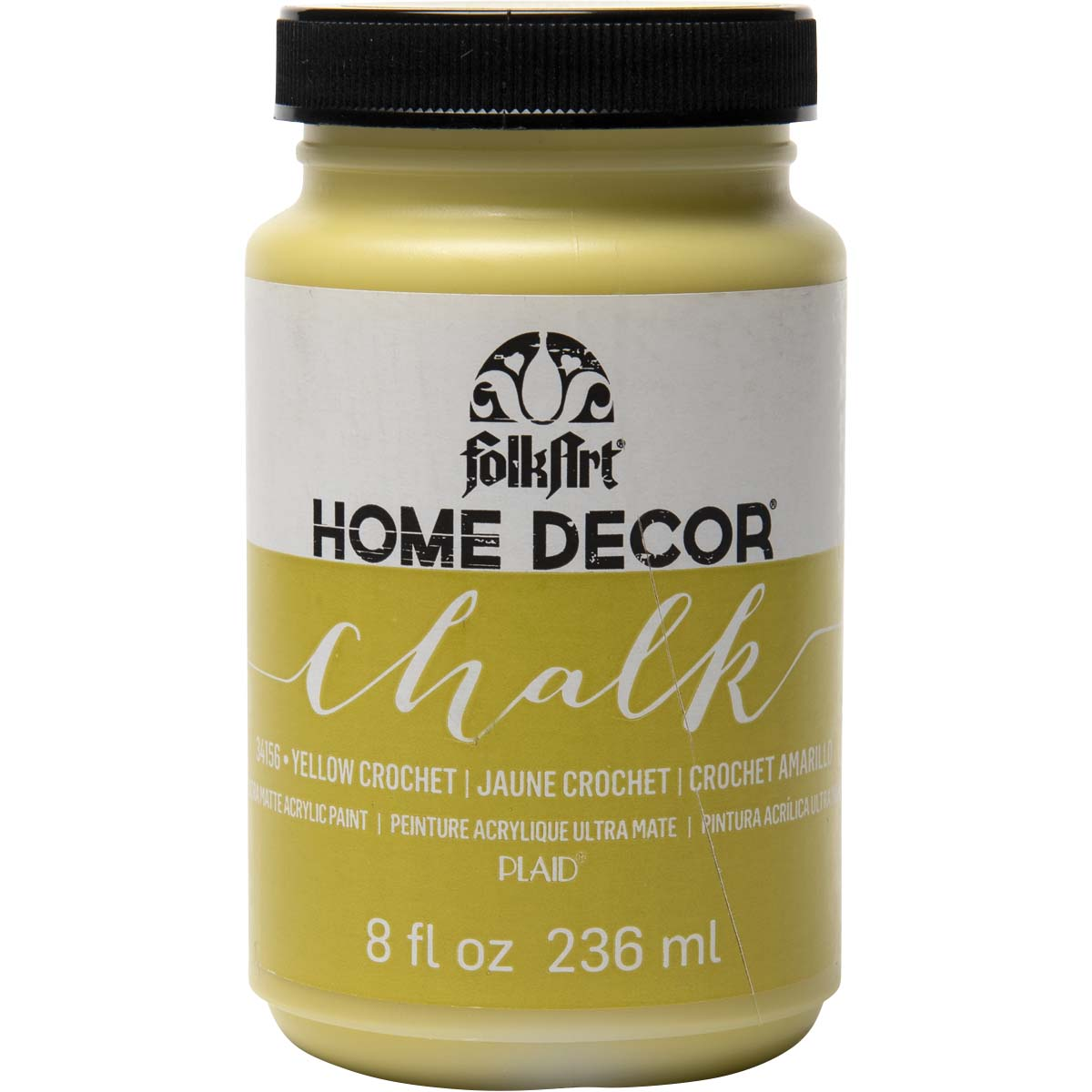 FolkArt ® Home Decor™ Chalk - Yellow Crochet, 8 oz. - 34156