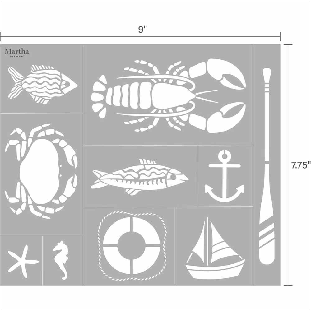 Martha Stewart ® Adhesive Stencil - Nautical