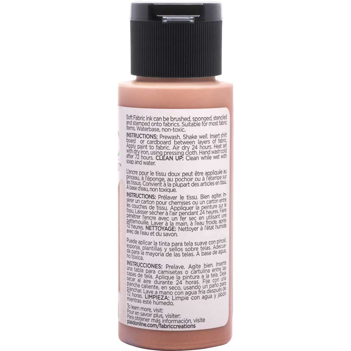 Fabric Creations™ Soft Fabric Inks - Metallic Rose Gold, 2 oz. - 26292