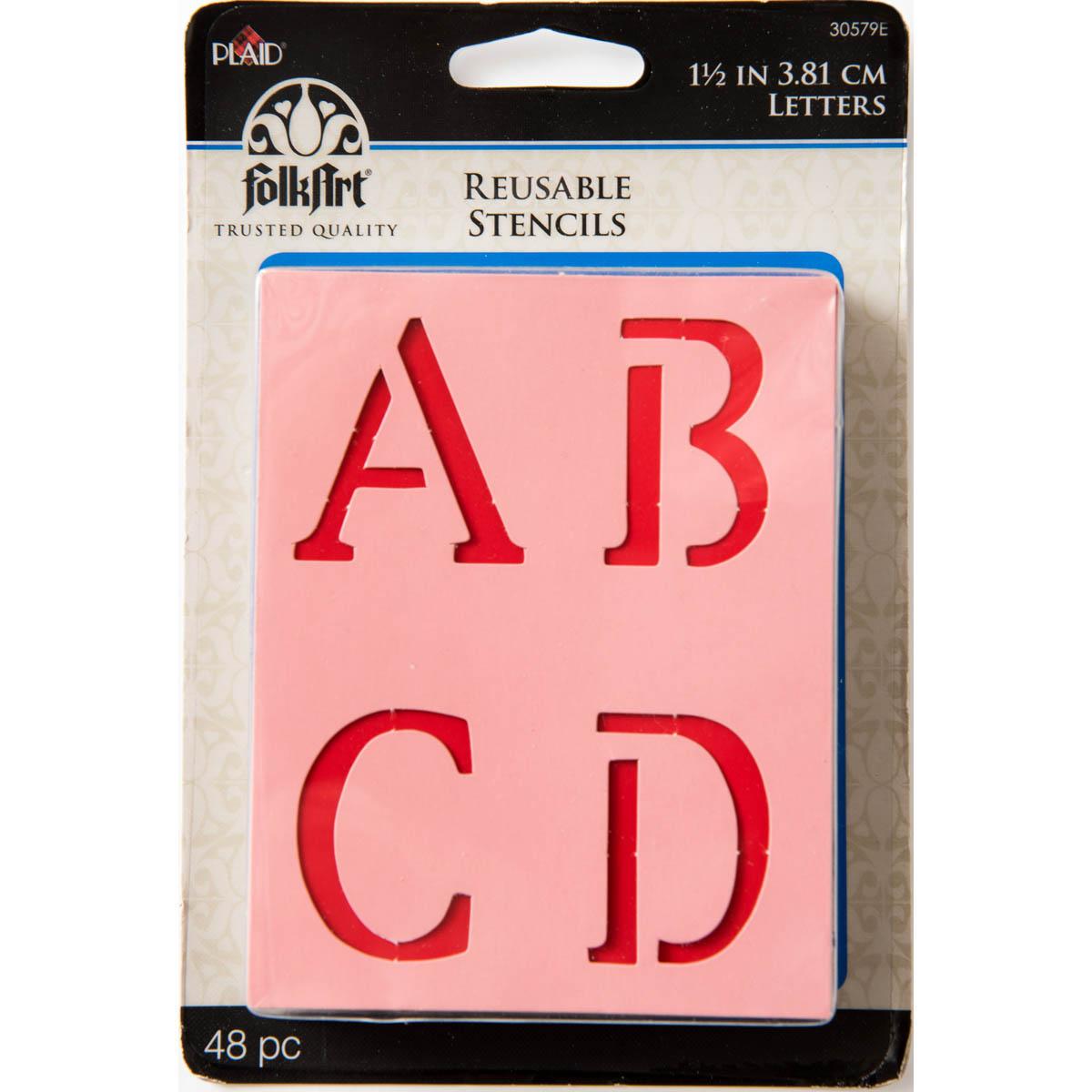 Plaid ® Stencils - Value Packs - Letter Stencils - 1-1/2