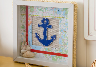 Nautical Themed Shadow Box