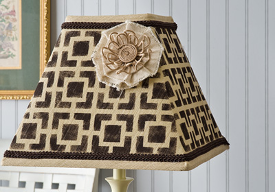 Funky Stenciled Lamp Shade