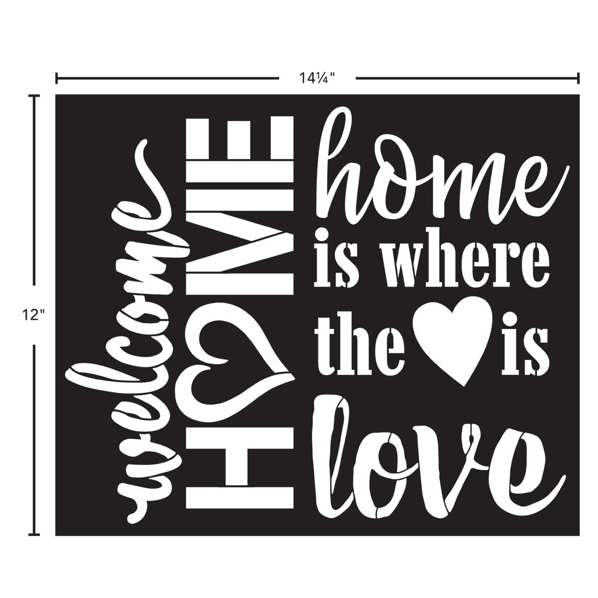 FolkArt ® Painting Stencils - Sign Making - Welcome Home - 71956