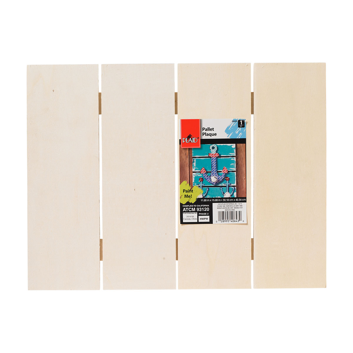 Plaid ® Wood Surfaces - Pallet Plaque, 15-3/4