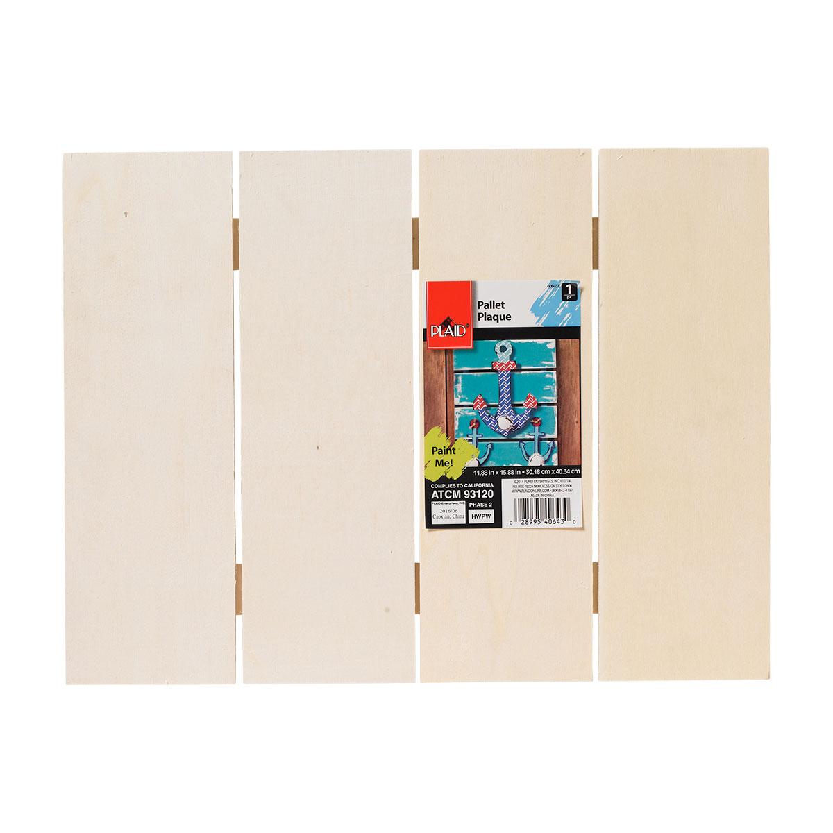 Plaid ® Wood Surfaces - Pallet Plaque, 15-3/4