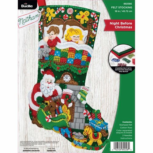 Bucilla ® Seasonal - Felt - Stocking Kits - Tis a Night Before Christmas - 89258E