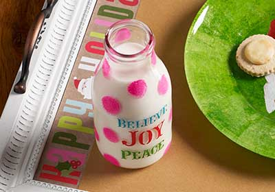 Milk Bottle Christmas Craft