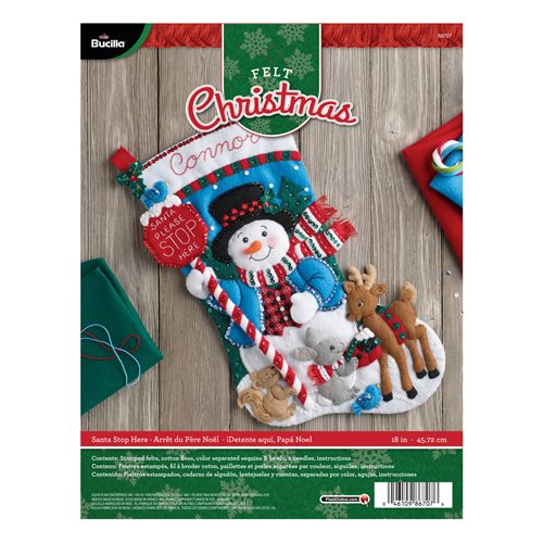 Bucilla ® Seasonal - Felt - Stocking Kits - Santa Stop Here