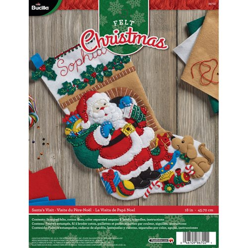 Bucilla ® Seasonal - Felt - Stocking Kits - Santa's Visit