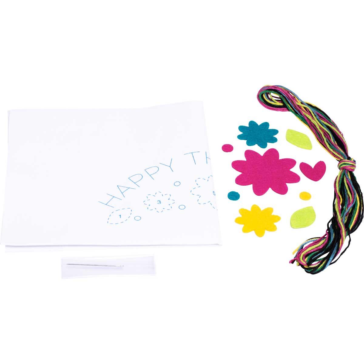 Bucilla ® My 1st Stitch™ - Stamped Cross Stitch Kits - Happy Thoughts - 47818E