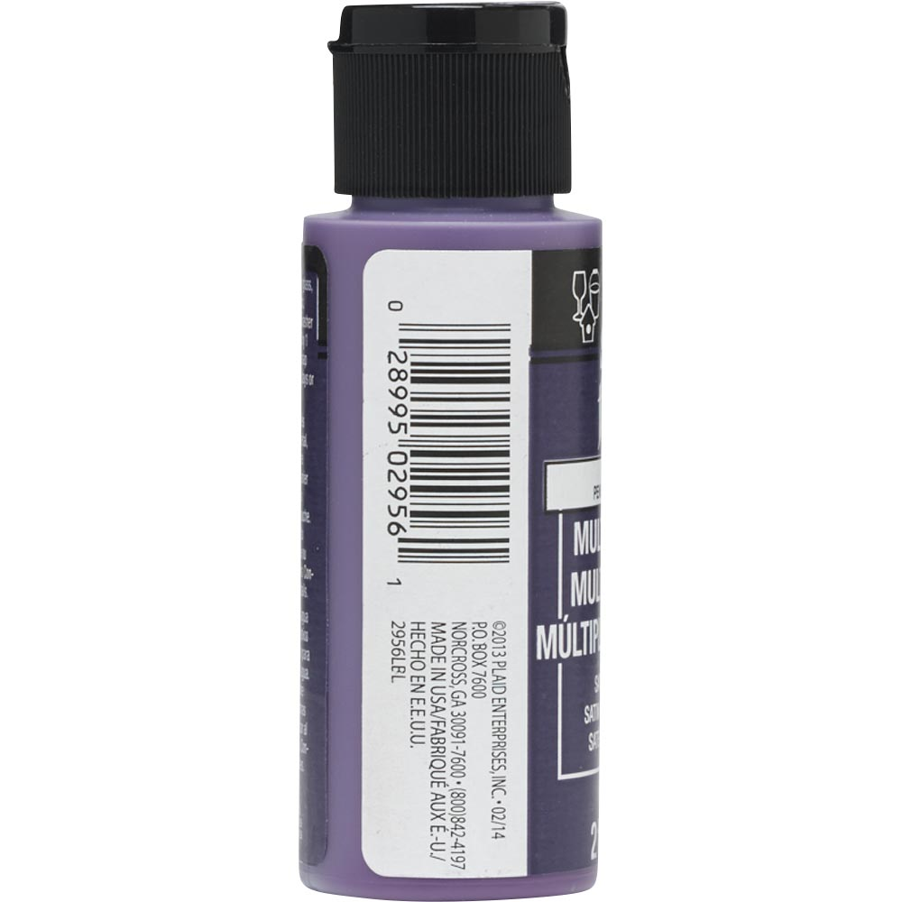 FolkArt ® Multi-Surface Satin Acrylic Paints - Violet Pansy, 2 oz.
