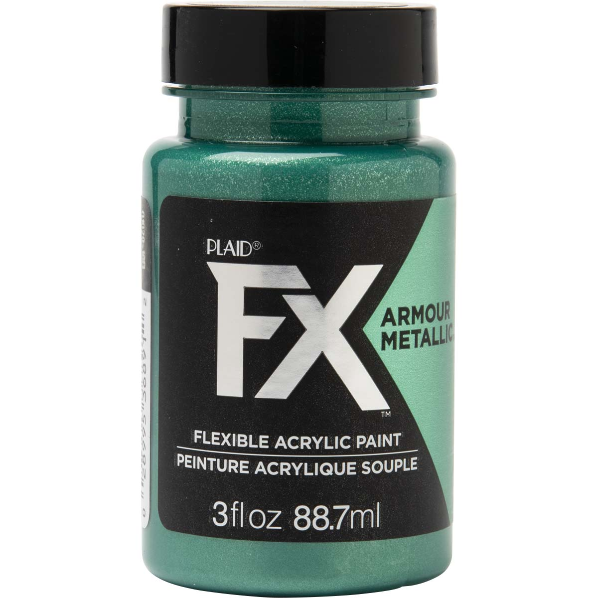 PlaidFX Armour Metal Flexible Acrylic Paint - Emerald, 3 oz. - 36891