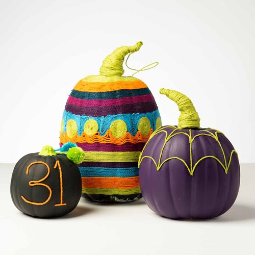 Mod Podge Ultra Yarn Painting Pumpkins