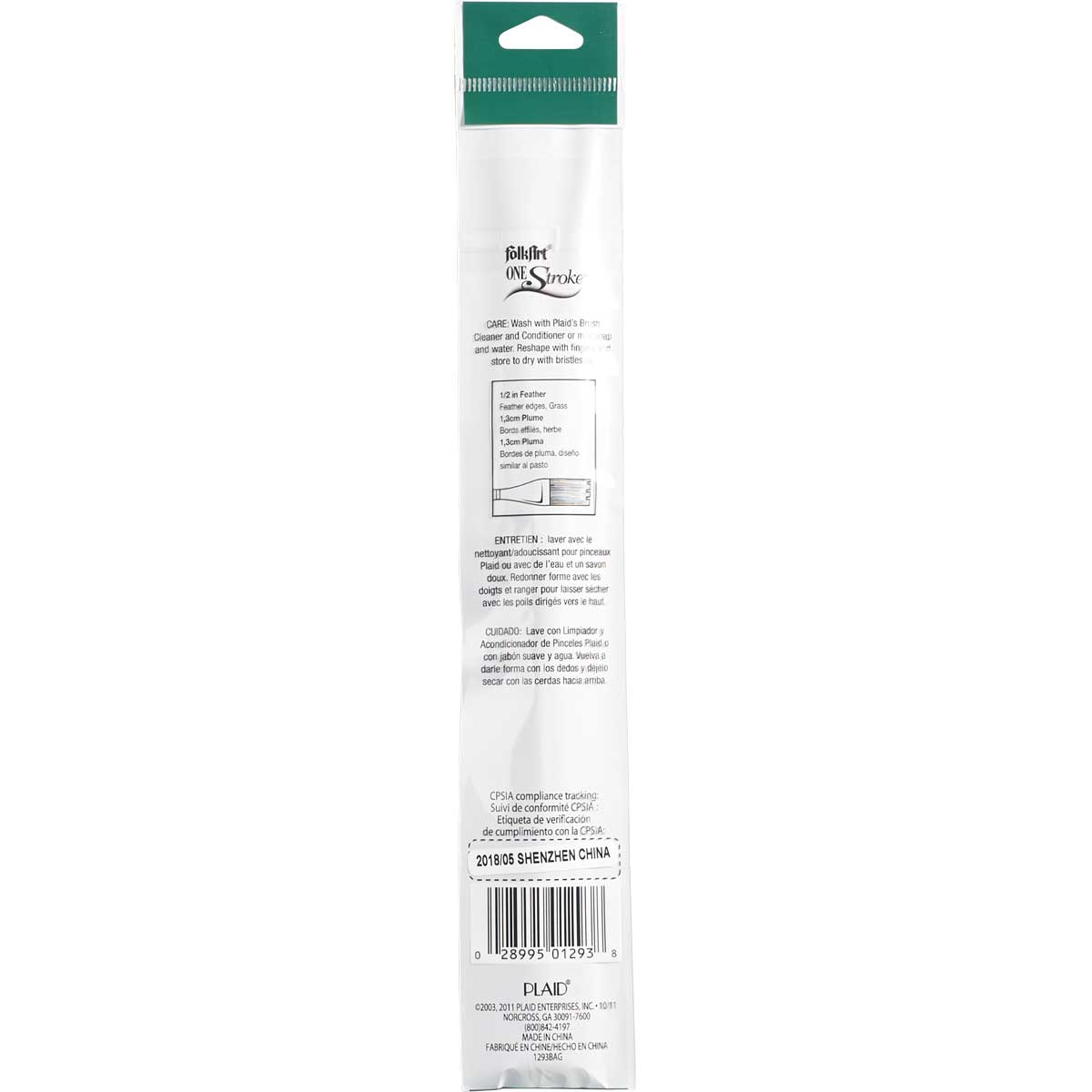 FolkArt ® One Stroke™ Brushes - Feather Brush, 1/2