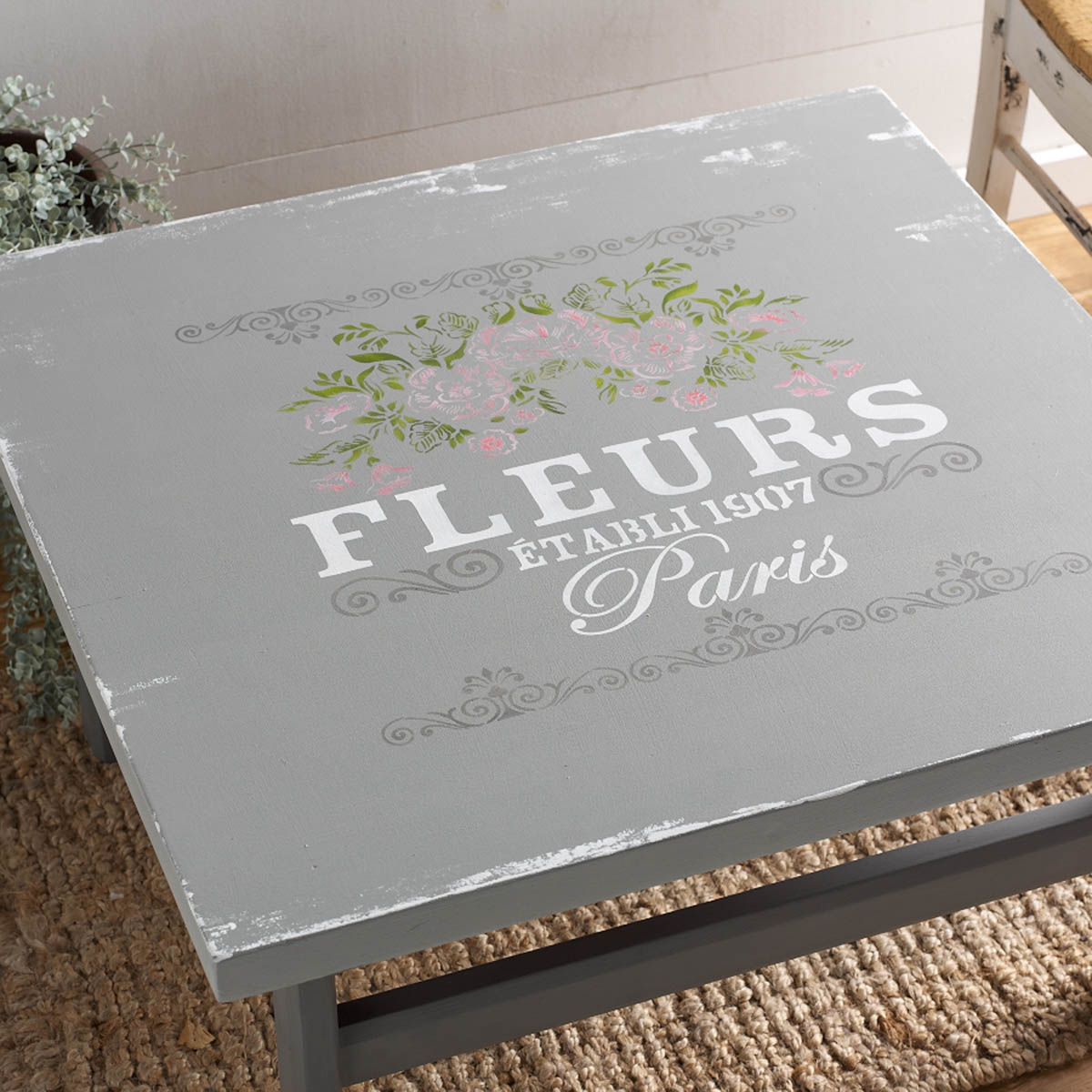 FolkArt ® Painting Stencils - Wall, Floor & Furniture - Fleurs