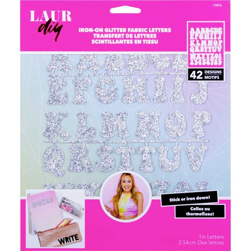 LaurDIY ® Iron-on Glitter Fabric Letters - Galaxy Gurl