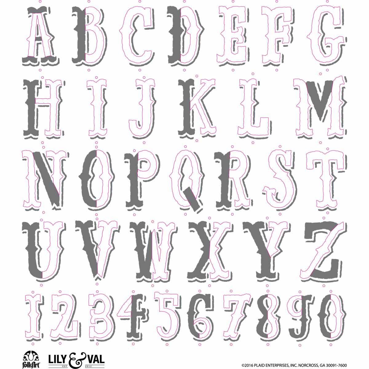 FolkArt ® Lily & Val™ Stencils - Variety Packs - Market Fresh - 13252