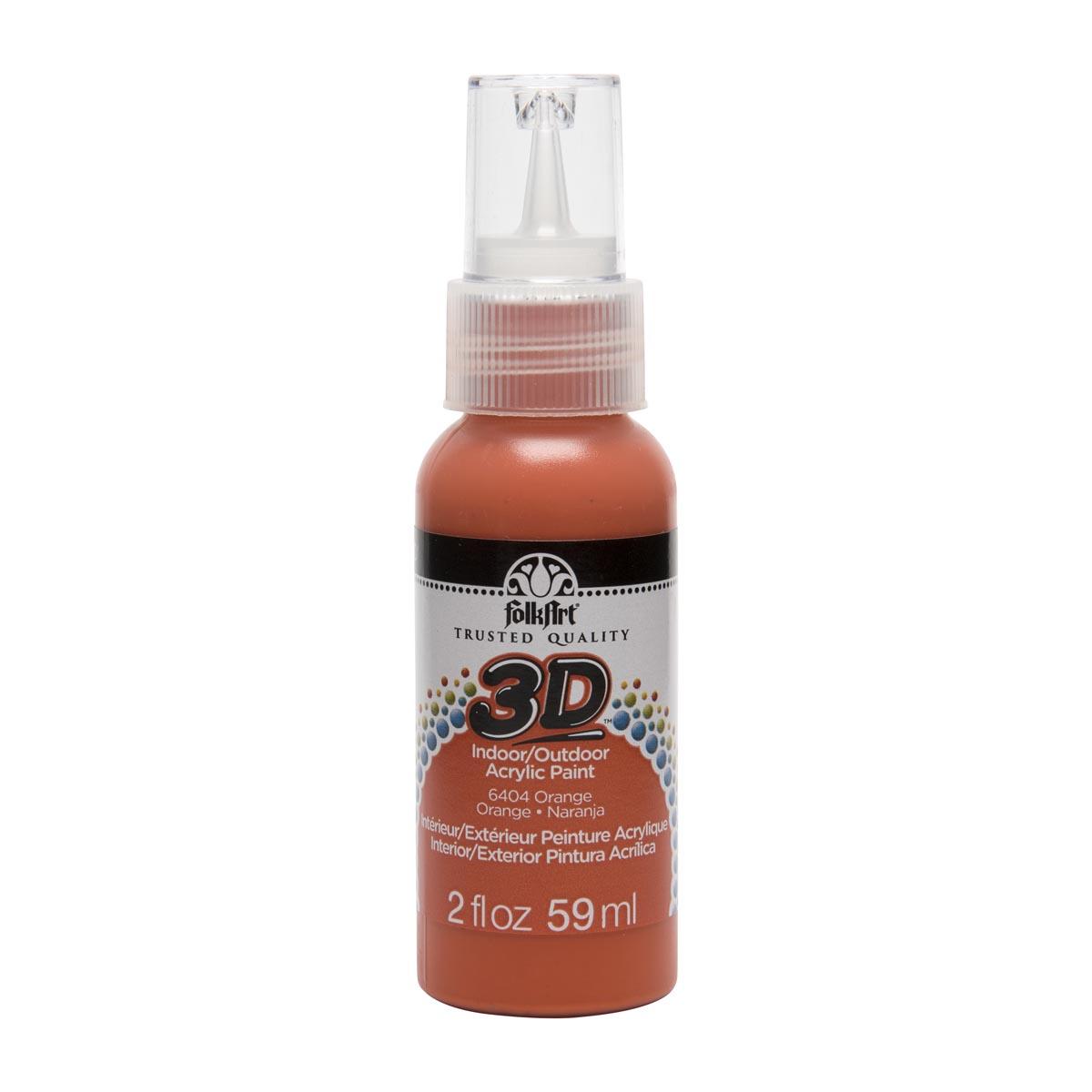 FolkArt ® 3D™ Acrylic Paint - Orange, 2 oz.
