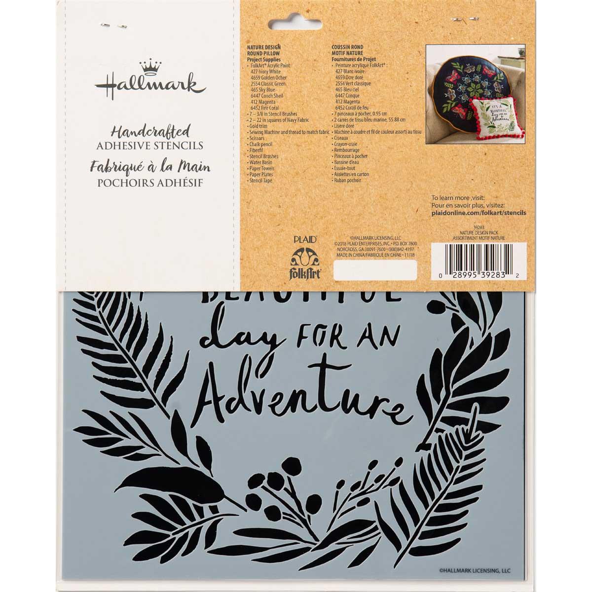 Hallmark Handcrafted Adhesive Stencils - Nature Design Pack, 8-1/2