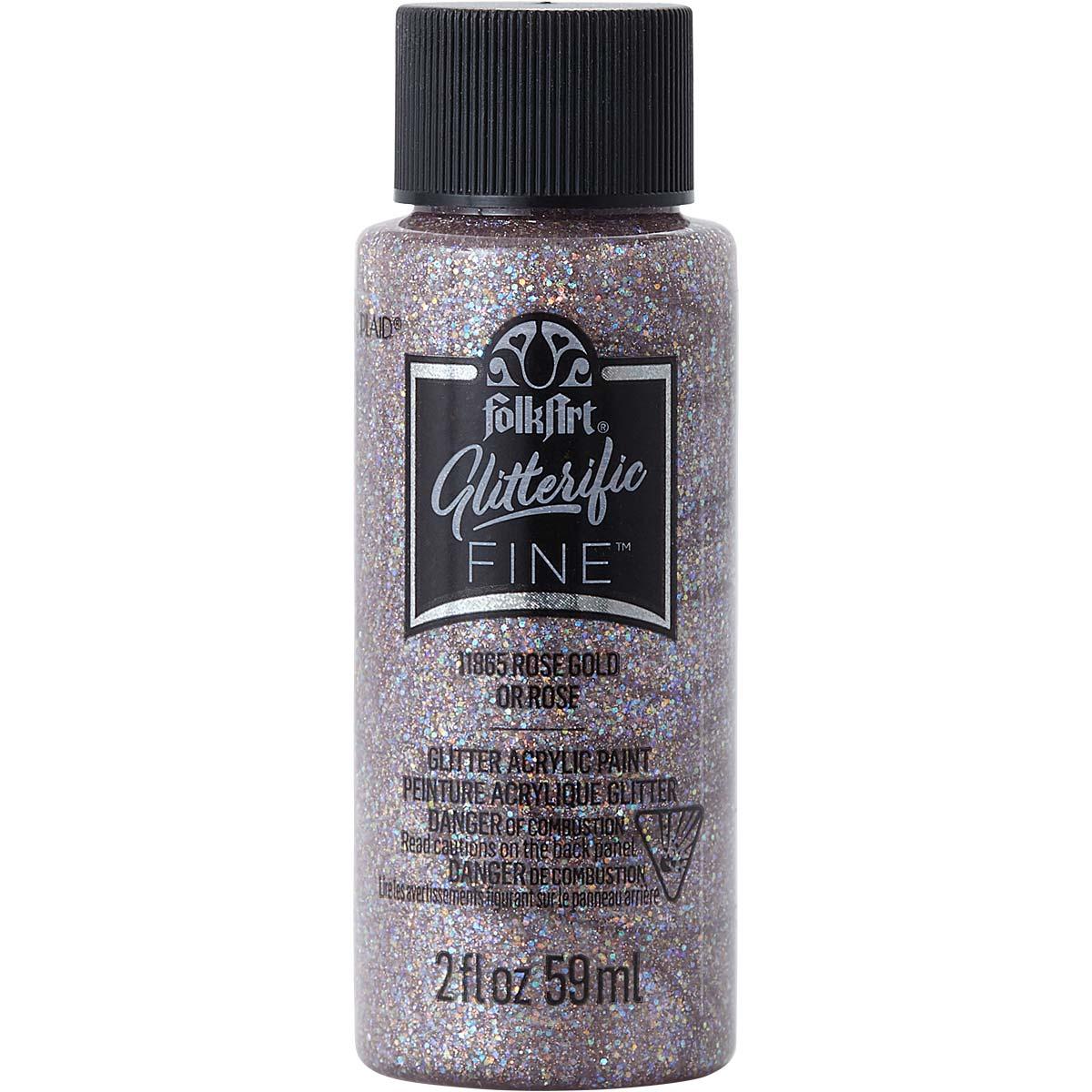 FolkArt ® Glitterific Fine™ Acrylic Paint - Rose Gold, 2 oz. - 11865