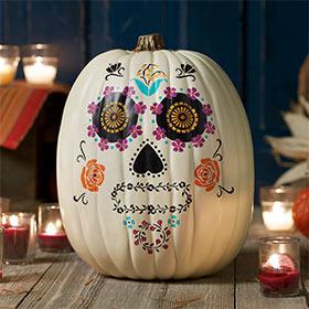 Spooky Day of the Dead Pumpkin