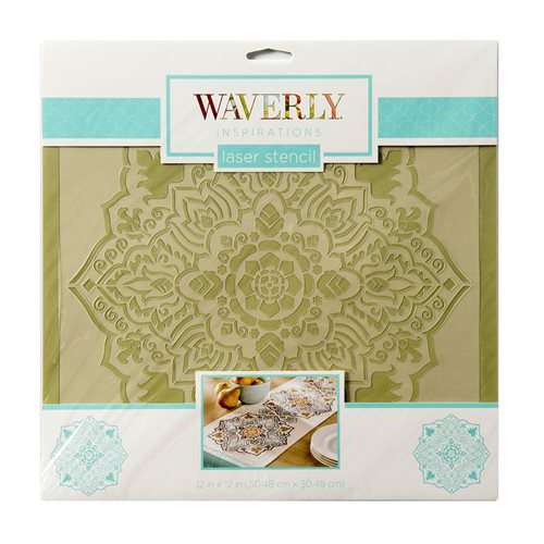 "Waverly ® Inspirations Laser Stencils - Décor - Tile, 12"" x 12"" - 60515E"