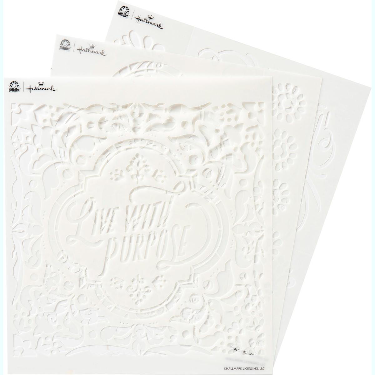 Hallmark Handcrafted Adhesive Stencils - Texture Design Pack, 8-1/2