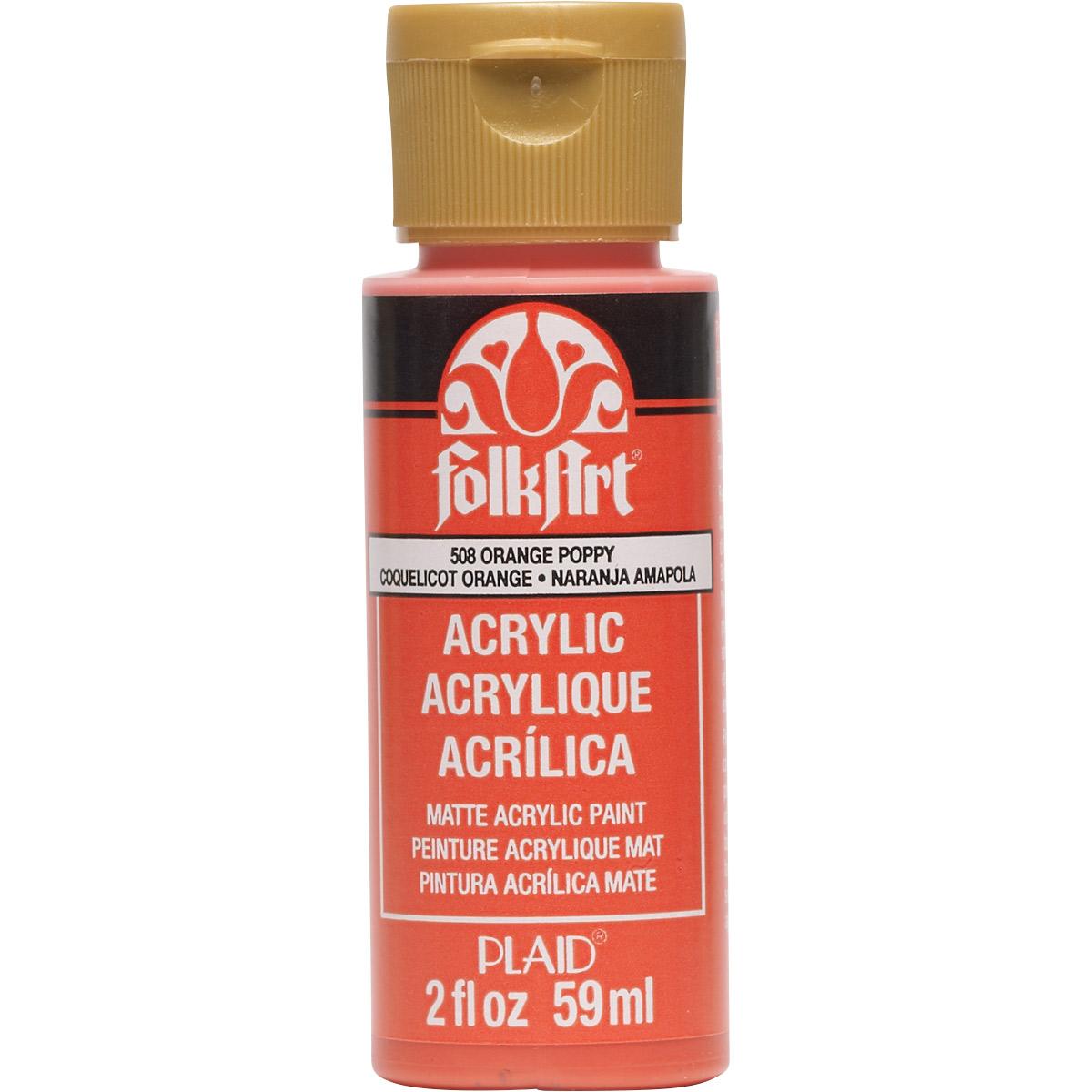 FolkArt ® Acrylic Colors - Orange Poppy, 2 oz.