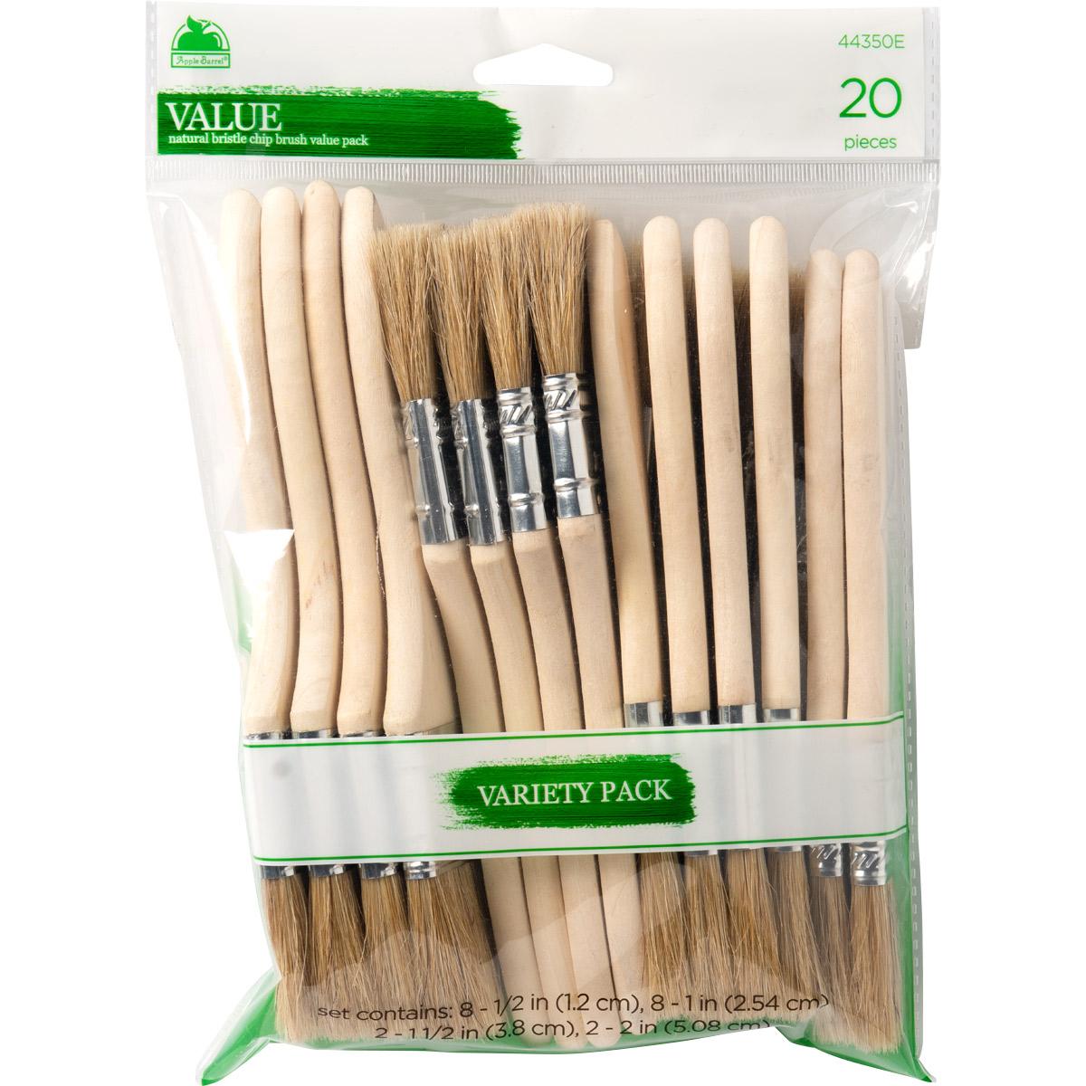 Apple Barrel ® Brush Sets - Chip Brush Value Set, 20 pc. - 44350E