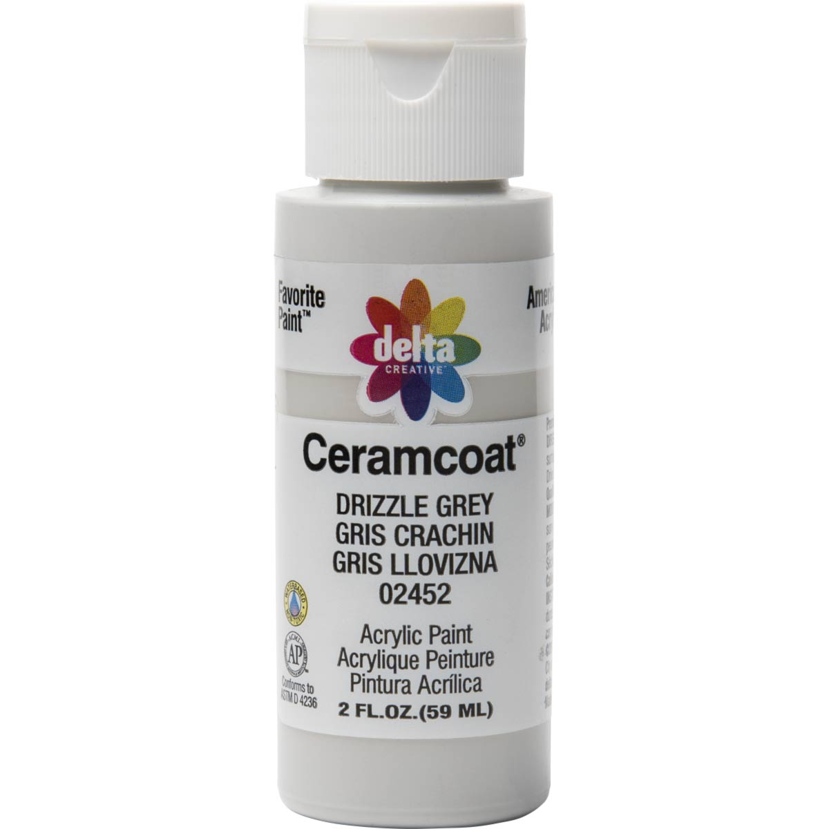 Delta Ceramcoat ® Acrylic Paint - Drizzle Grey, 2 oz.