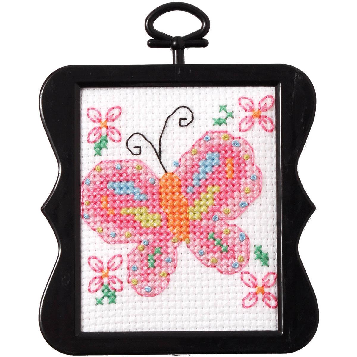 Bucilla ® Counted Cross Stitch - Beginner Stitchery - Mini - Butterfly