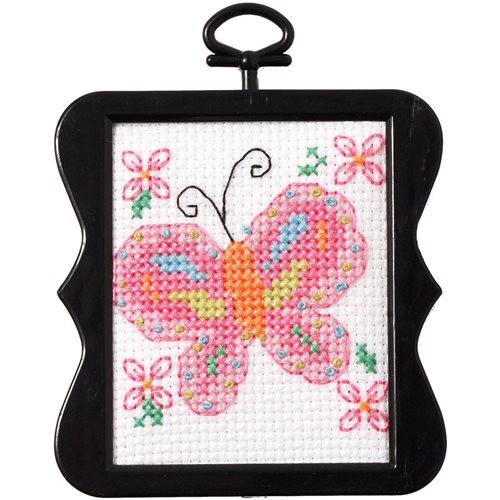 Bucilla ® Counted Cross Stitch - Beginner Stitchery - Mini - Butterfly - 46150