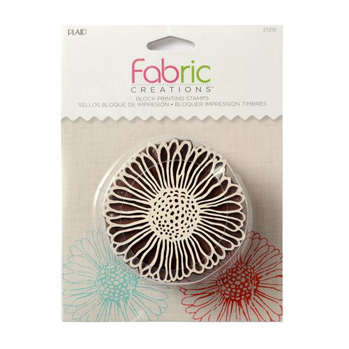 Fabric Creations™ Block Printing Stamps - Medium - Vintage Daisy