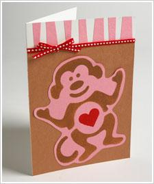 Monkey Love Card