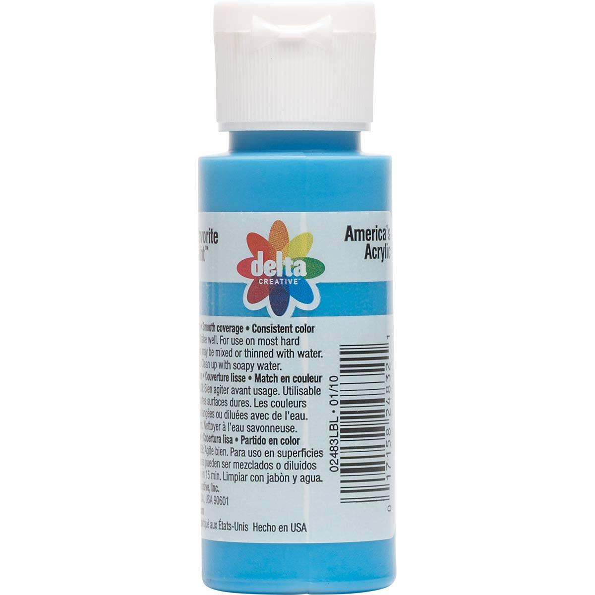 Delta Ceramcoat ® Acrylic Paint - Azure Blue, 2 oz.